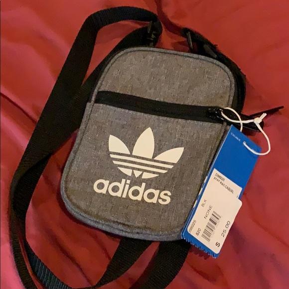 dd2d5041c1 Adidas Grey Black Casual Mini Pouch Bag Strap